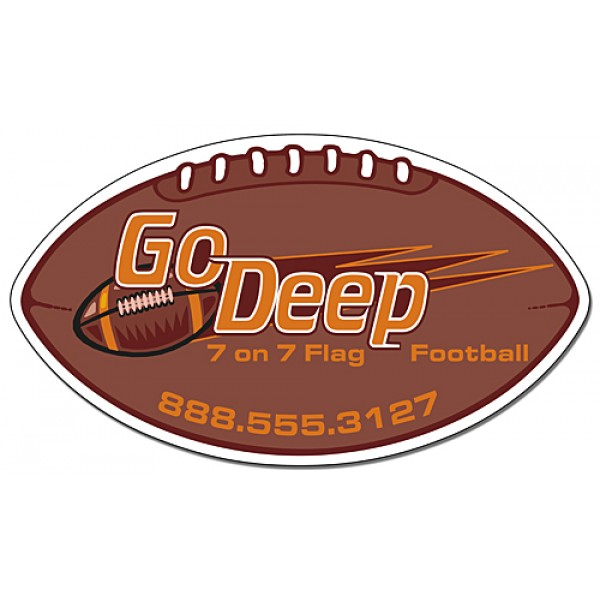 "Custom Large Football Shaped Magnets 7"" x 4"""