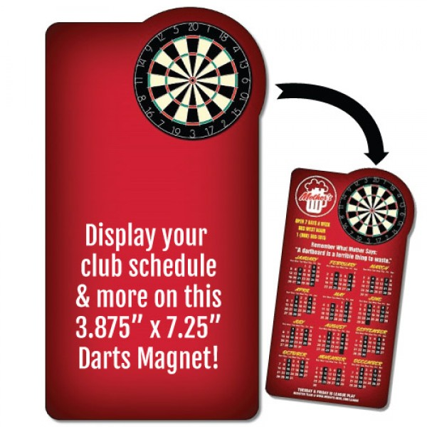 "Darts Schedule Rectangle Magnet - 3.875"" x 7.25"""