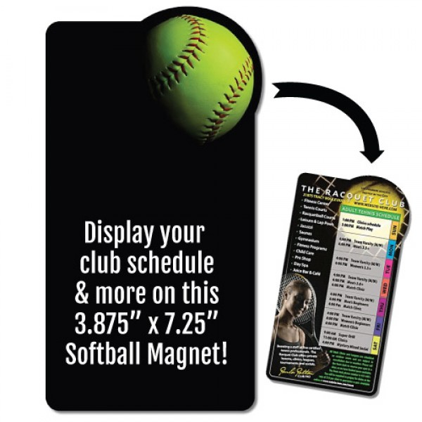 "Softball Schedule Rectangle Magnet - 3.875"" x 7.25"""
