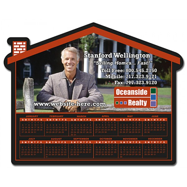 "Custom House Shaped Magnet - 6"" x 4.75"""