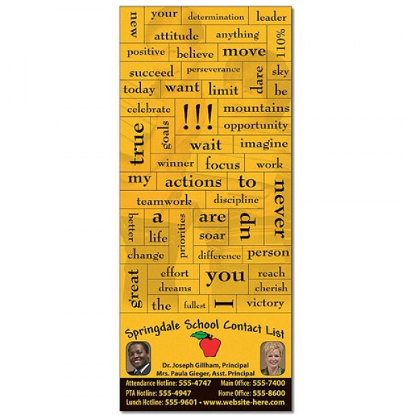3.5x8.25 School Magna Phrase Business Card Magnets