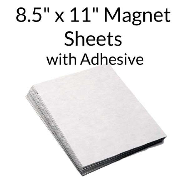 "Magnetic Sheets with Indoor Adhesive 8.5"" x 11"""