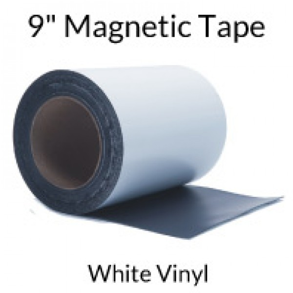"""9"""" Magnetic Tape with White Vinyl"""