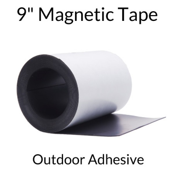 "9"" Magnetic Tape with Outdoor Adhesive"