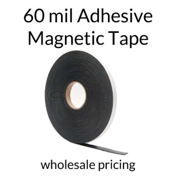 Magnet Strips with Adhesive - 60mil 100' Rolls Bulk Pricing