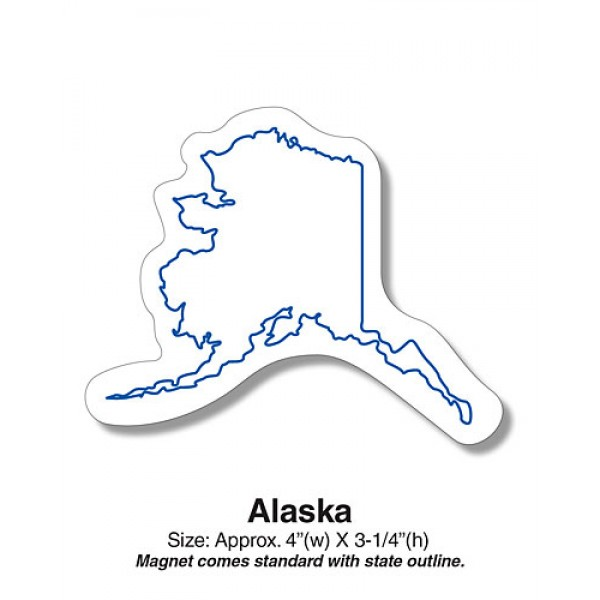 "Alaska Shaped State Fridge Magnet - 4"" x 3.25"""