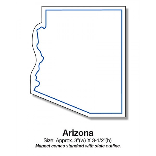 "Arizona Shaped State Fridge Magnets - 3"" x 3.5"""