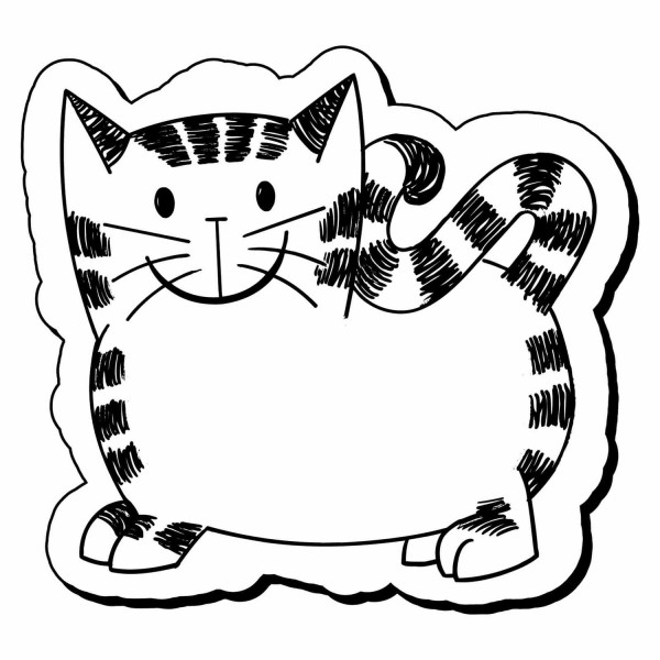 Custom Cat Shaped Magnets 1 875 X 2