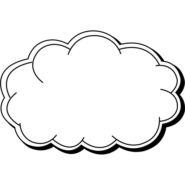 "Custom Cloud Shaped Magnets 2"" x 3"""