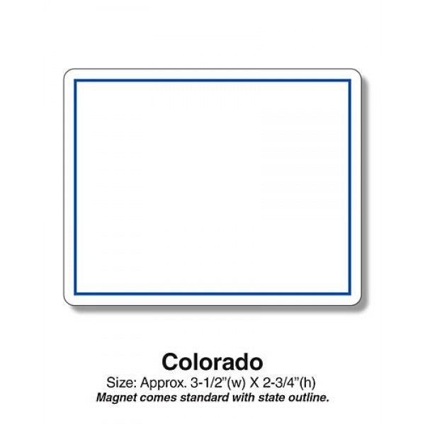 "Colorado Shaped State Fridge Magnets - 3.5"" x 2.75"""
