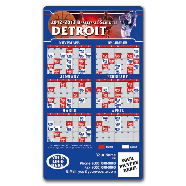image regarding Knicks Printable Schedule identify Detroit Pistons Basketball Workers Plan Magnets 4\