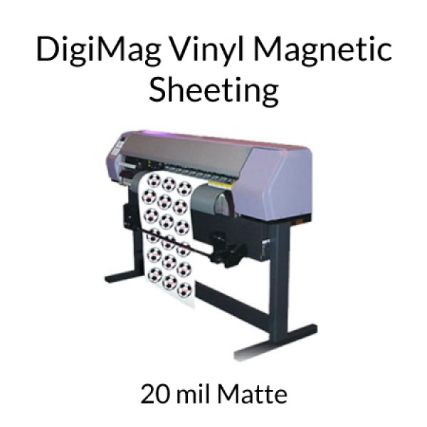 photo regarding Inkjet Printable Vinyl Roll named DigiMag Vinyl Inkjet Printable Magnet Rolls - 20 mil Matte