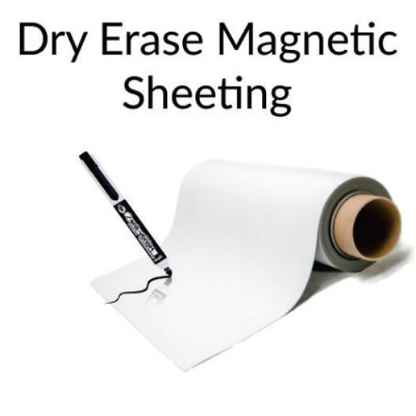 Dry Erase Magnetic Sheeting - By The Foot