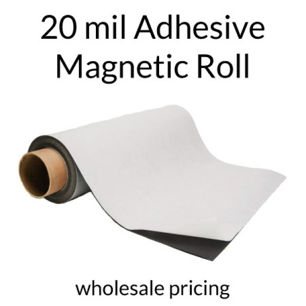 Magnet Roll with Indoor Adhesive - 20 mil - Wholesale Pricing