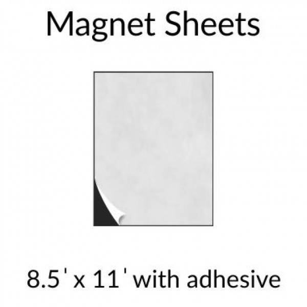 "8.5"" x 11"" Magnets Sheets With Adhesive"