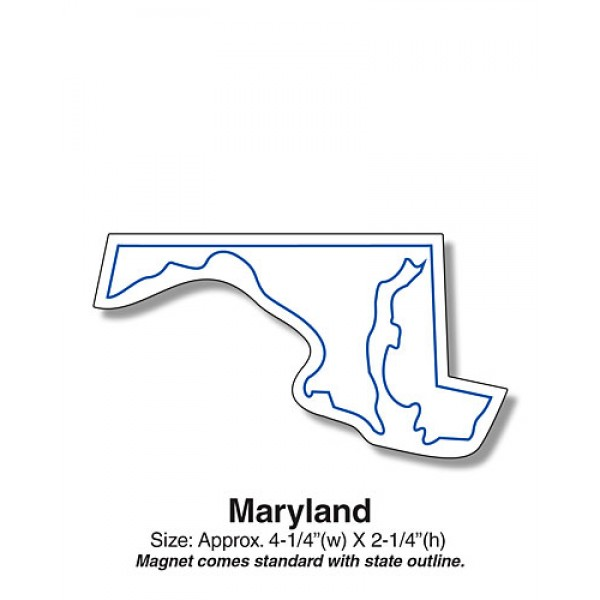 "Maryland State Shaped Fridge Magnets - 4.25"" x 2.25"""