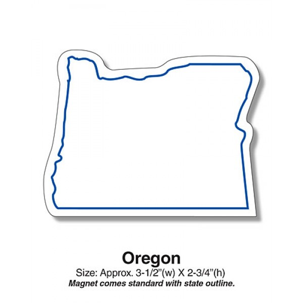 "Oregon State Shaped Magnets - 3.5"" x 2.75"""