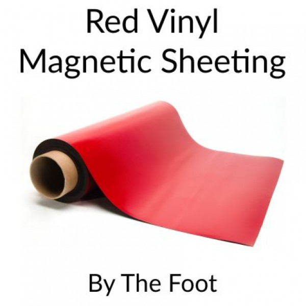 Red Magnetic Sheeting - By the Foot