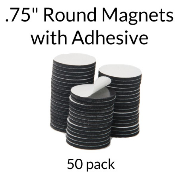 "Round Adhesive Magnets - .5"" - 50 pack"