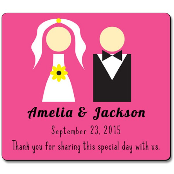 "Save the Date Magnets - Bride and Groom 3.5"" x 4"""