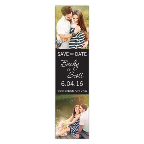 "Custom Save the Date Magnets 2"" x 8"