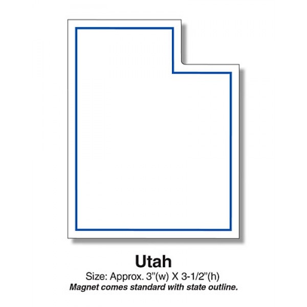 "Utah State Shaped Magnets - 3"" x 3.5"""