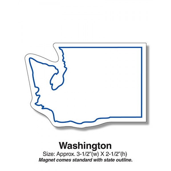 "Washington State Shaped Magnets - 4.5"" x 2.25"""