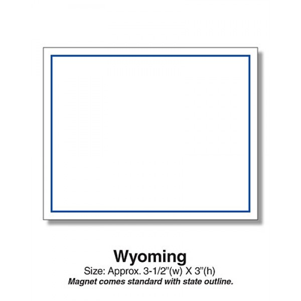 "Wyoming State Shaped Magnets - 3.5"" x 3"""