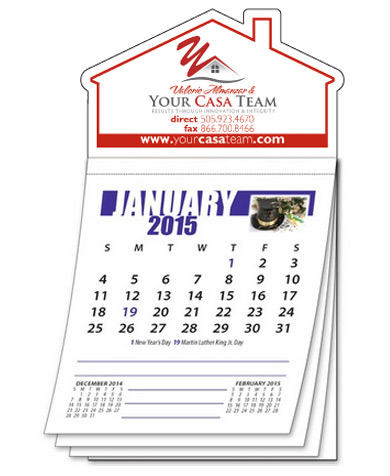Custom House Shaped Business Card Magnetic Calendar