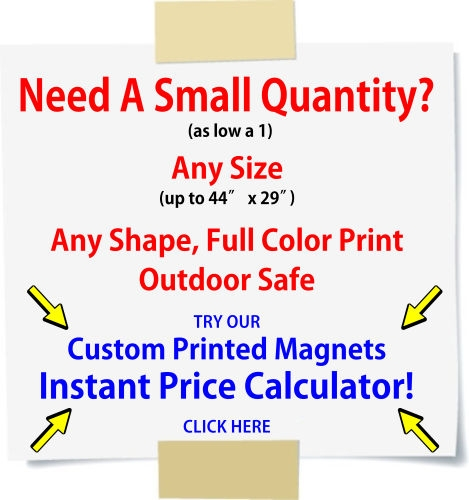 Custom Printed Magnets Price Calculator