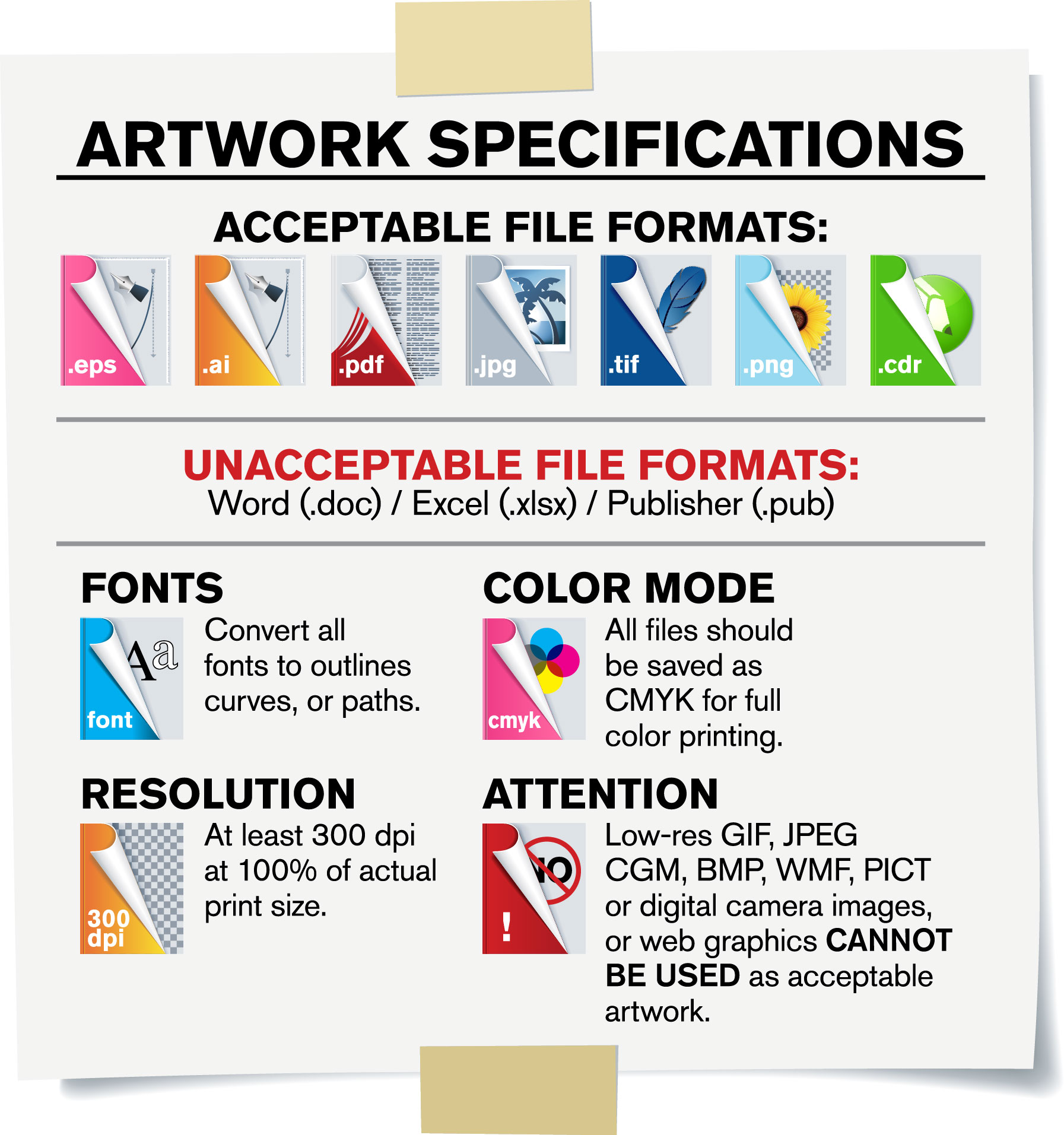 Artwork Specifications